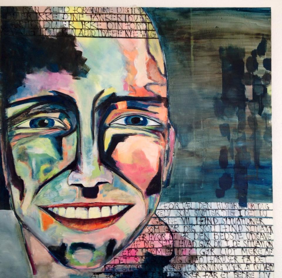 Akrylmaleri på lærred Den bedste udgave af dig selv