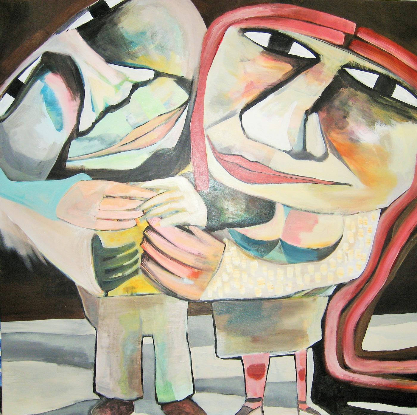 Maleri: Genert akryl på lærred