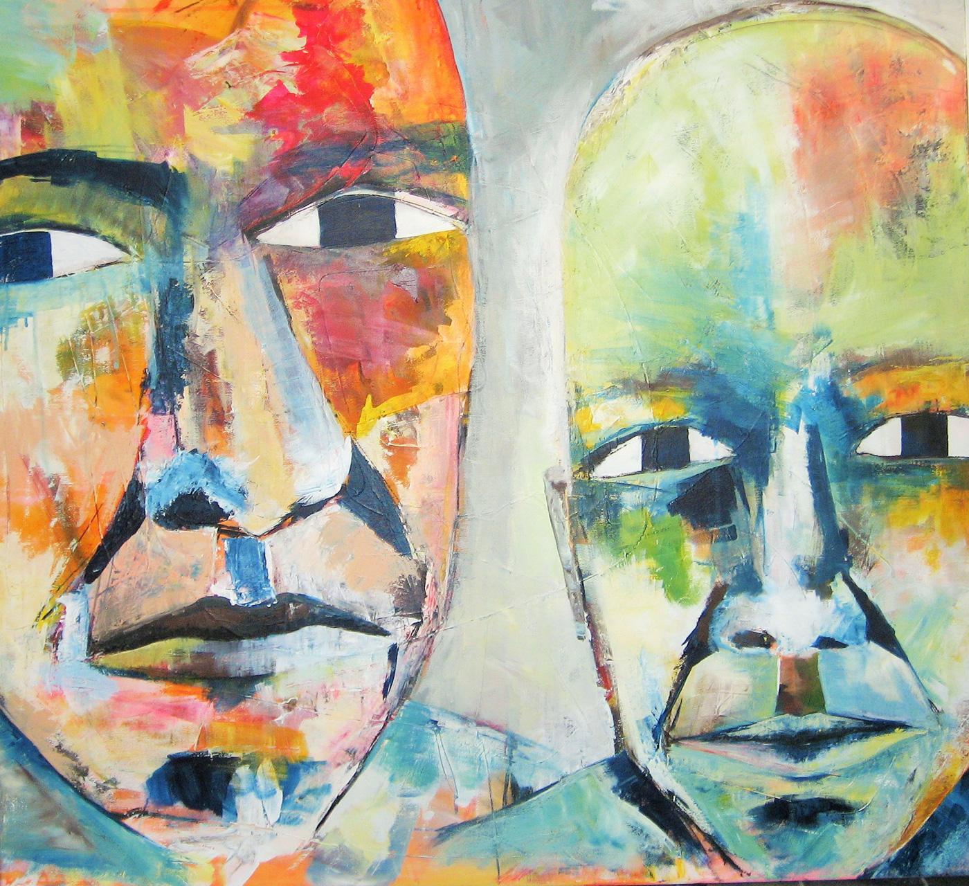 Maleri akryl på lærred ingen titel
