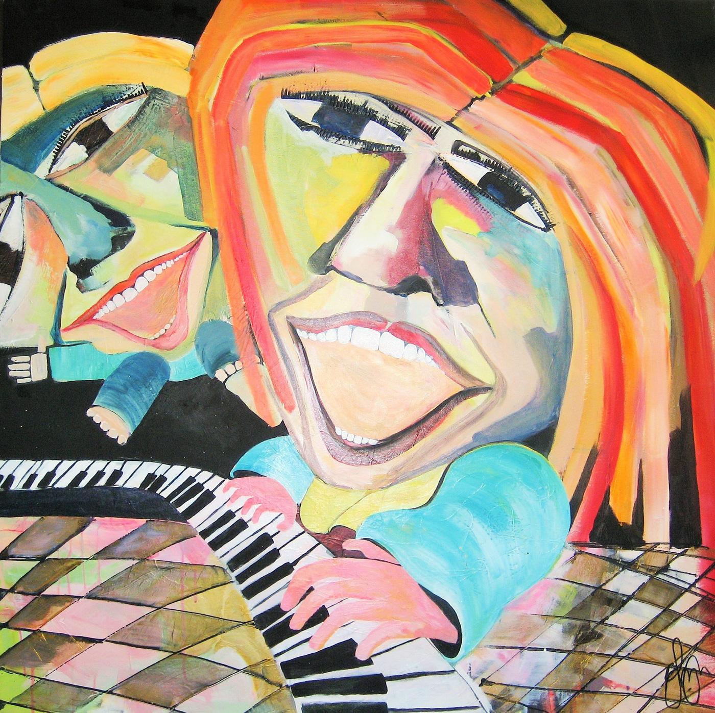 Akrylmaleri klaver