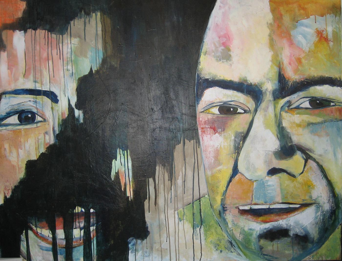 Akryl maleri: Vi er ikke nødvendigvis vores fortid